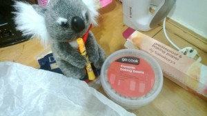The Koala was slightly puzzled about the lack of tomato sauce for the beans.