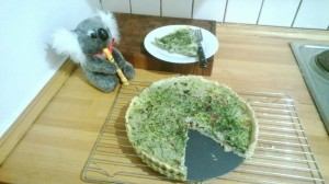 The finished quiche.