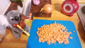 2d6 diced carrots. Those of you that know your D&D should be laughing now.