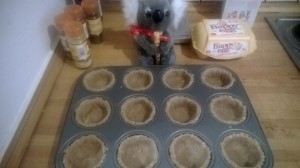 The mince pie cases, ready to go!