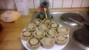 The finished mince pies.