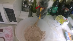 Dry ingredients, dry humour.