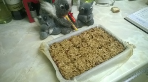 The finish flapjacks, ready for an adventure to the desolate wastes of Newcastle.