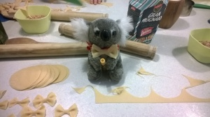 The Koala models a potential replacement for his ribbon.