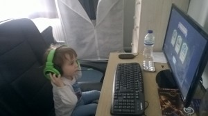My niece receiving her first experience of youth-corrupting video games