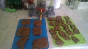 The cookies in small, medium, large and Koala sized portions.